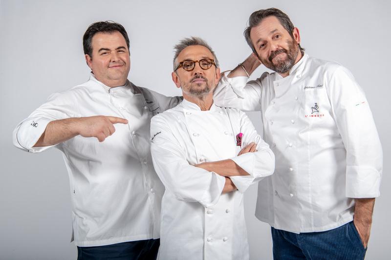 Cuochi D'Italia Campionato del mondo Gennaro Esposito, Bruno Barbieri e Cristiano Tomei